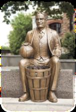 Friendship Trail - James Naismith statue image